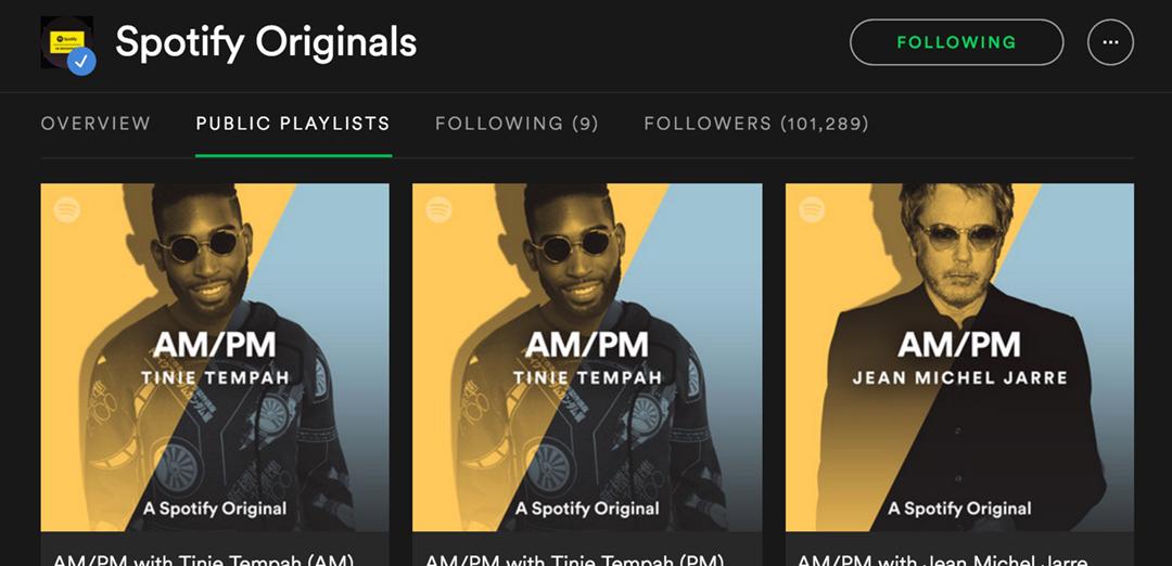 Spotify AM:PM playlists