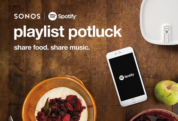 Sonos & Spotify Playlist Potluck