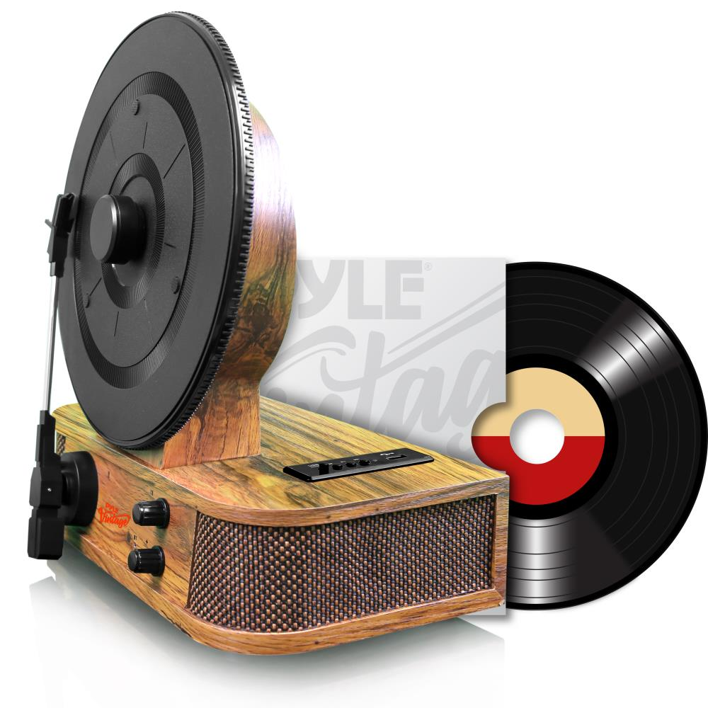 pyle bluetooth vertical turntable