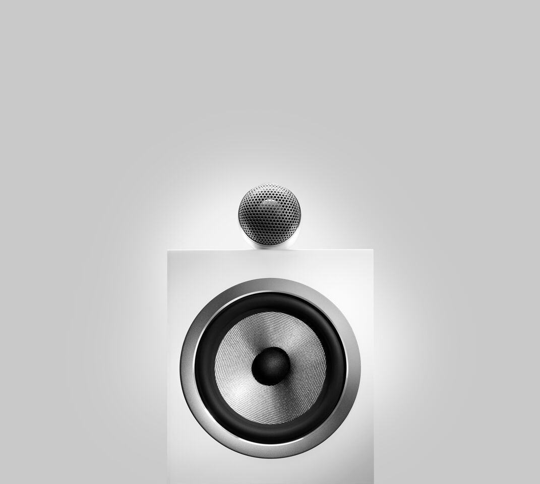 bowers & wilkins 700 serie 705-S2-Satin-White-Front-Beauty